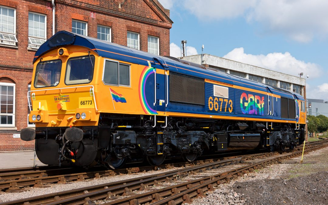 GB Railfreight Unveil New Brighton Pride Rainbow Locomotive