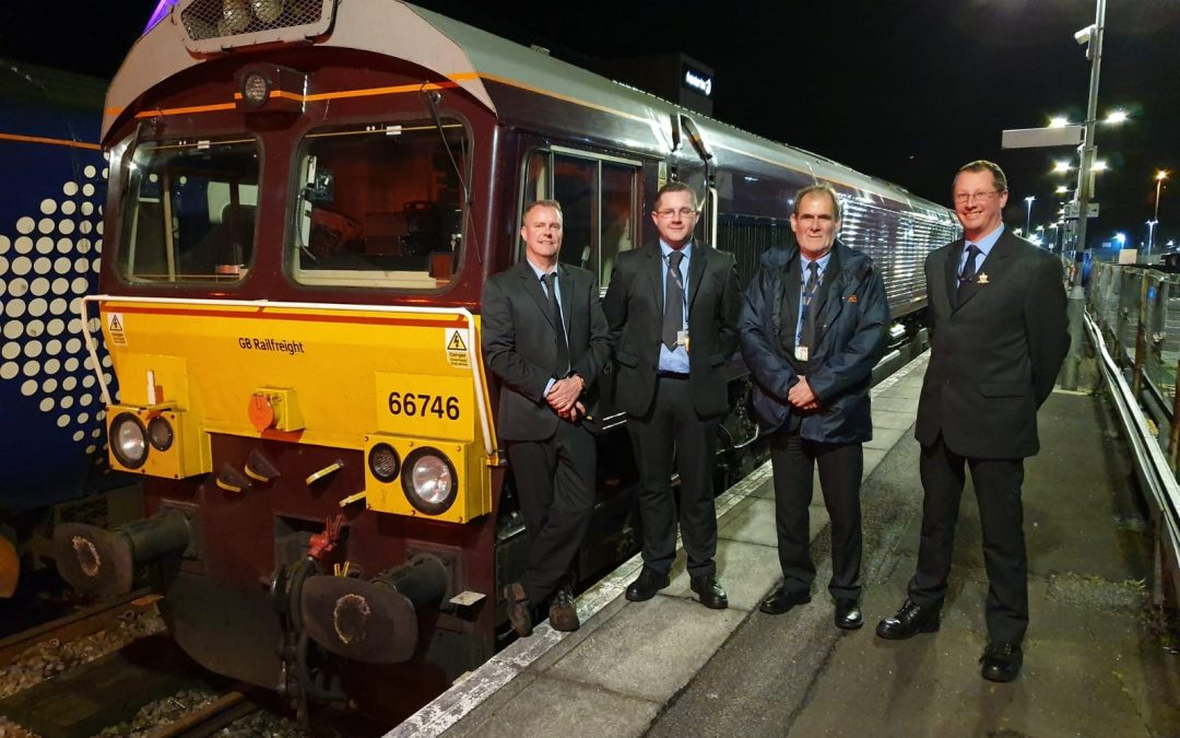 GB Railfreight Make History with Class 66 to Oban Station
