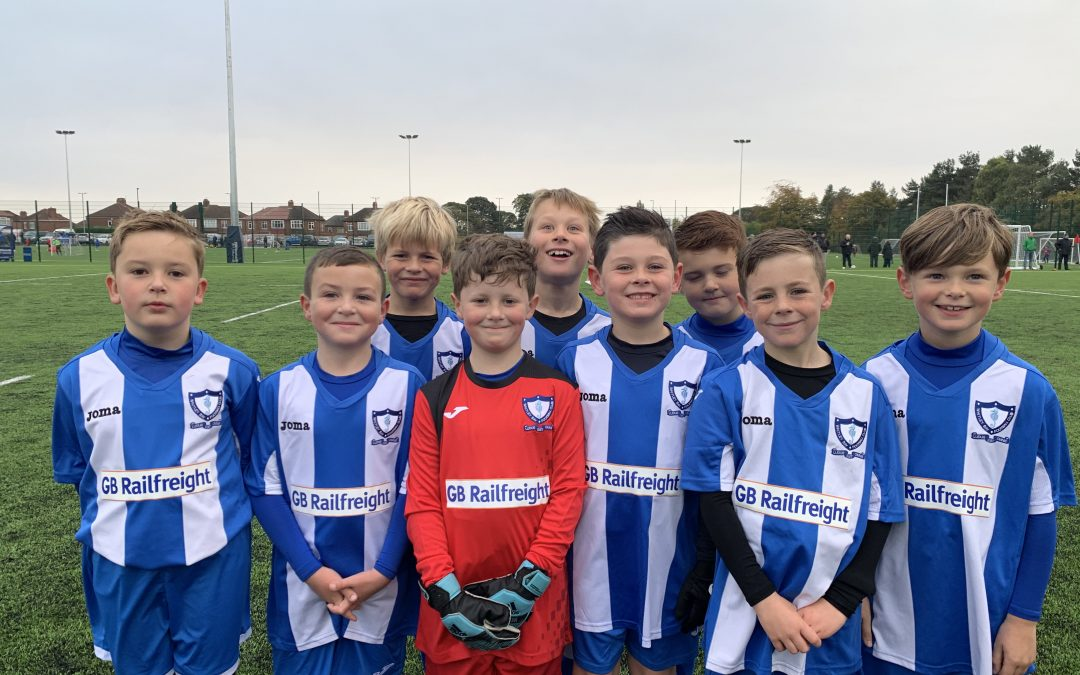GB Railfreight and Whitley Bay F.C. Under 8s Agree New Kit Deal