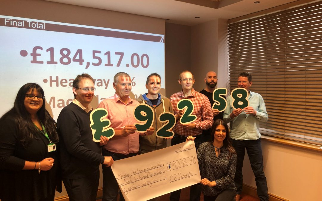 GB Railfreight Raise £184,517 for Charity