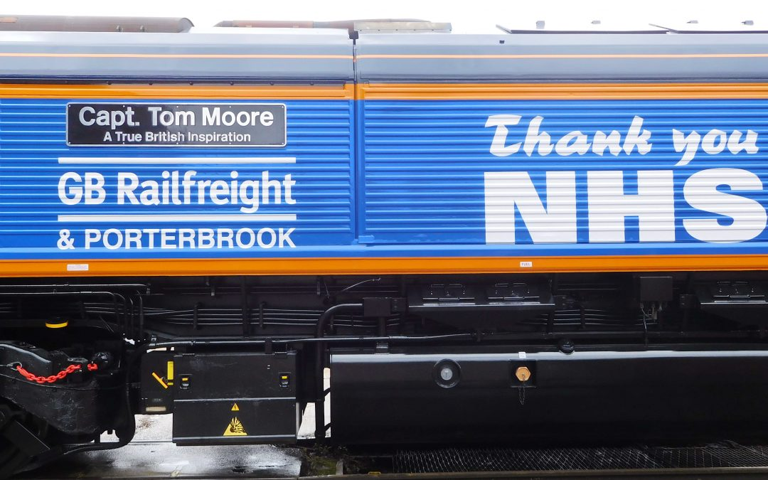 GB Railfreight thanks Capt. Tom Moore for his NHS fundraising with loco naming