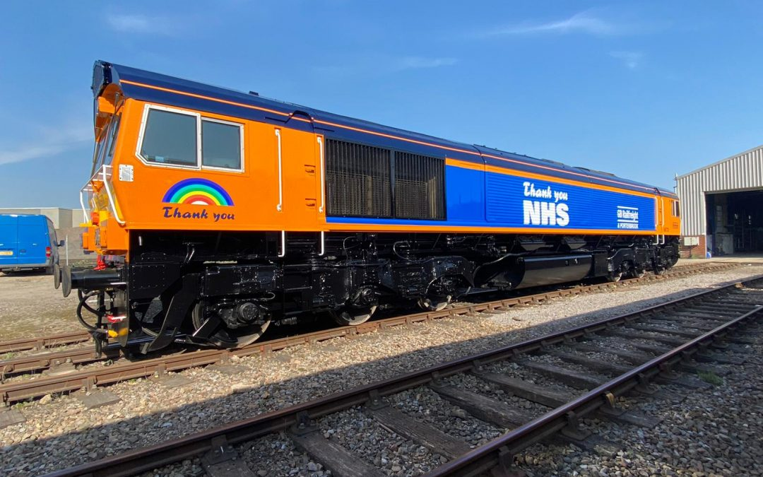 GB Railfreight unveils new locomotive to thank our NHS heroes