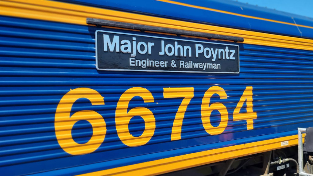 Life of former inspector of railways celebrated with freight train named in his honour